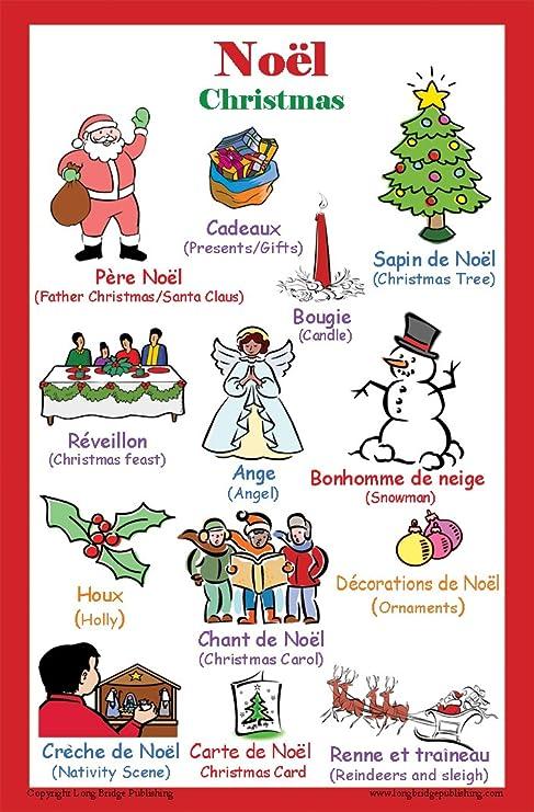 Amazon.com: French Language School Poster   Christmas/Noel