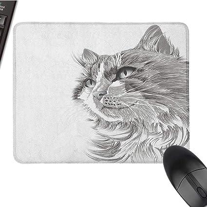 Amazoncom Small Mouse Pad Animal Cat Head Portrait Furry Cute