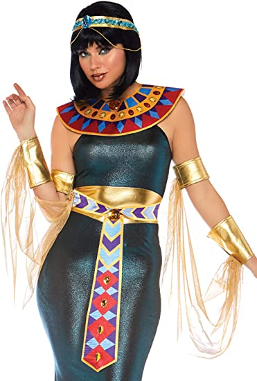 LEG Avenue 85512X X Nero//Oro Regina Nilo Costume 3X-Large - 4X-La.