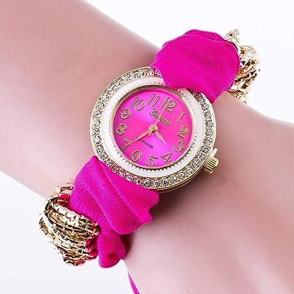 Relojes de pulsera para Mujer Reloj Casual / / Banda de Tela Flor Tendencia de la