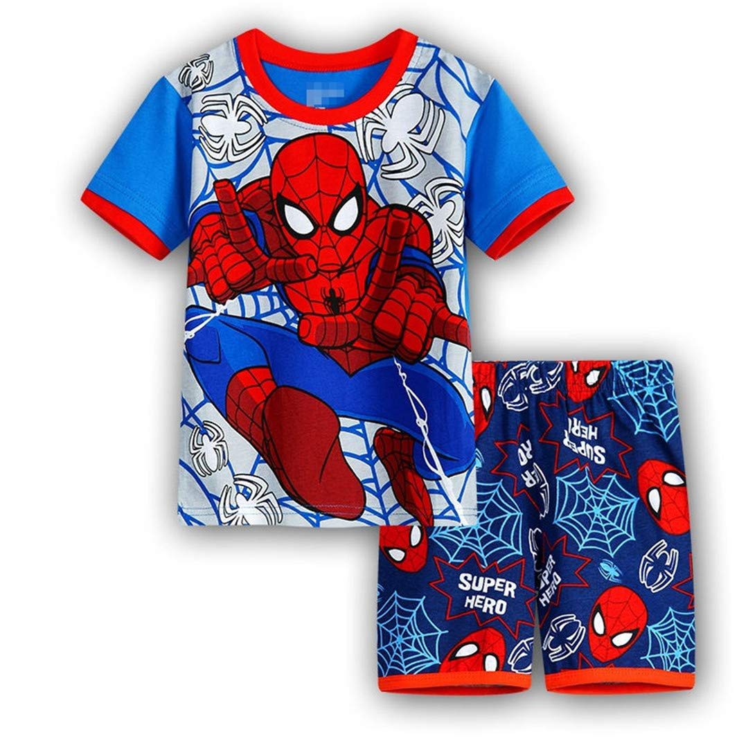 Kids Spider-Man Cartoon Pajamas Set Spiderman Boys T-Shirt Shorts