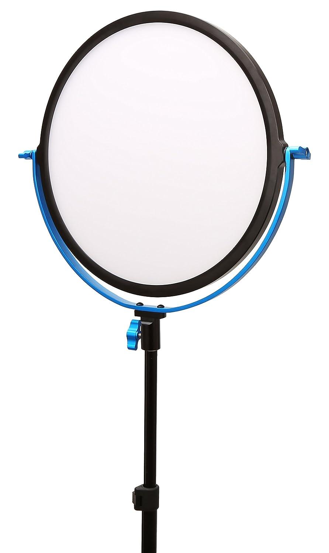Dracast Softray SMD LED 600ラウンドライト (デイライト) LEDビデオライト 調光機能付き デイライトカラー ライトブルー DRSRA-R-600D)   B06WGZCPPN