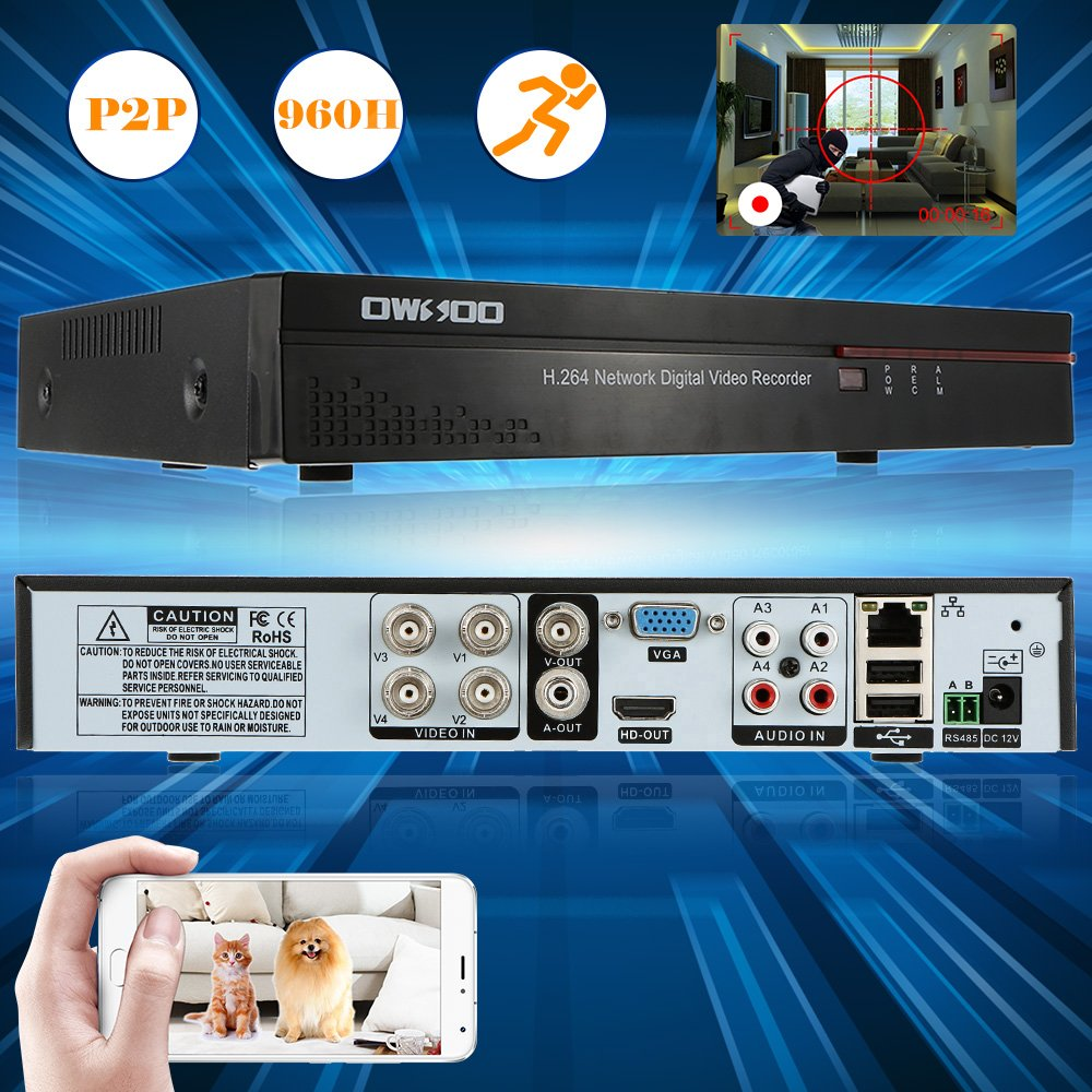 Owsoo 4 Channel Dvr Full 960h D1 H264 P2p Network Cctv H 264 Circuit Diagram Security Phone Control Motion Detection Email Alarm For Surveillance Camera