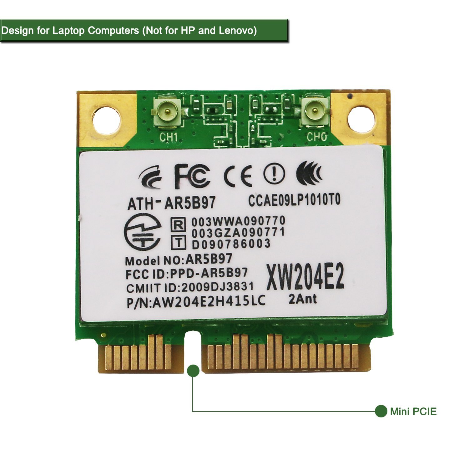 Netely Adaptador De Red Inalambrico Para Laptop-qualcomm Atheros Ar9287 Ar5b97 Adaptador De Red Inalambrico  Mini Pci