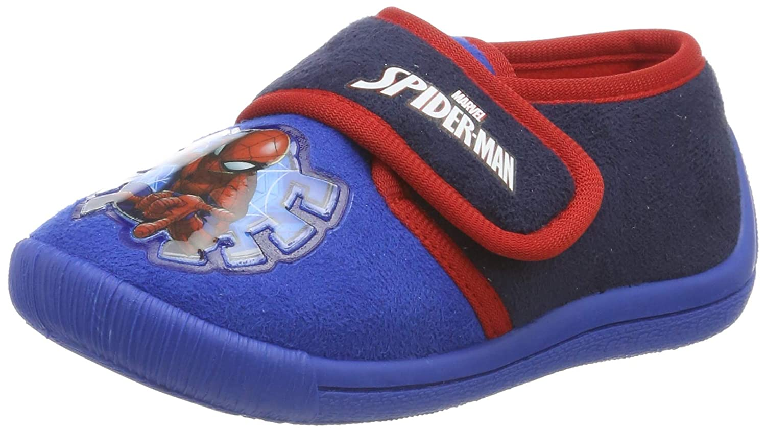Spiderman Boys Kids Velcro Low Houseshoes Top Slippers