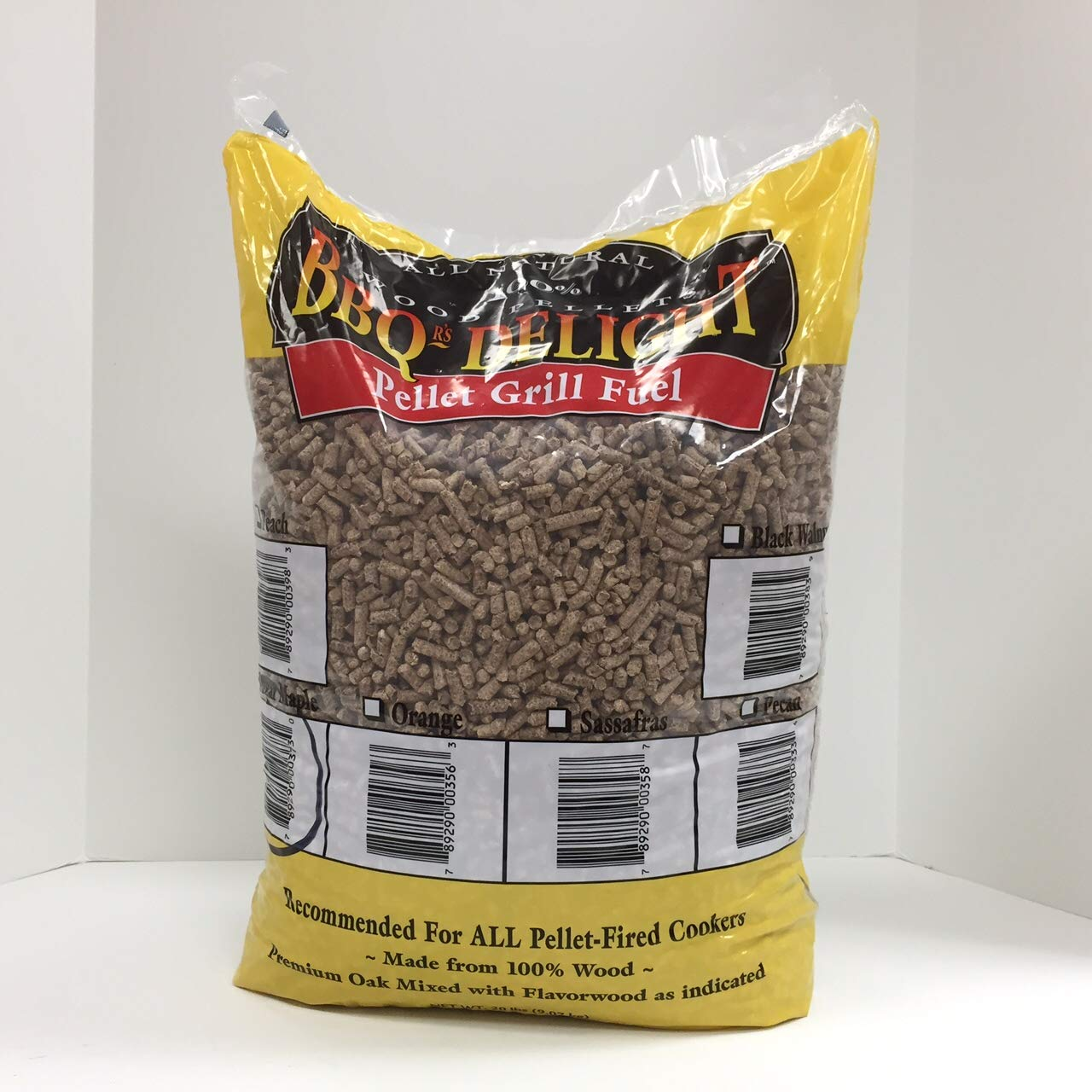 Peach Flavor BBQR's Delight Smoking BBQ Pellets 20 Pounds by BBQ'rs Delight