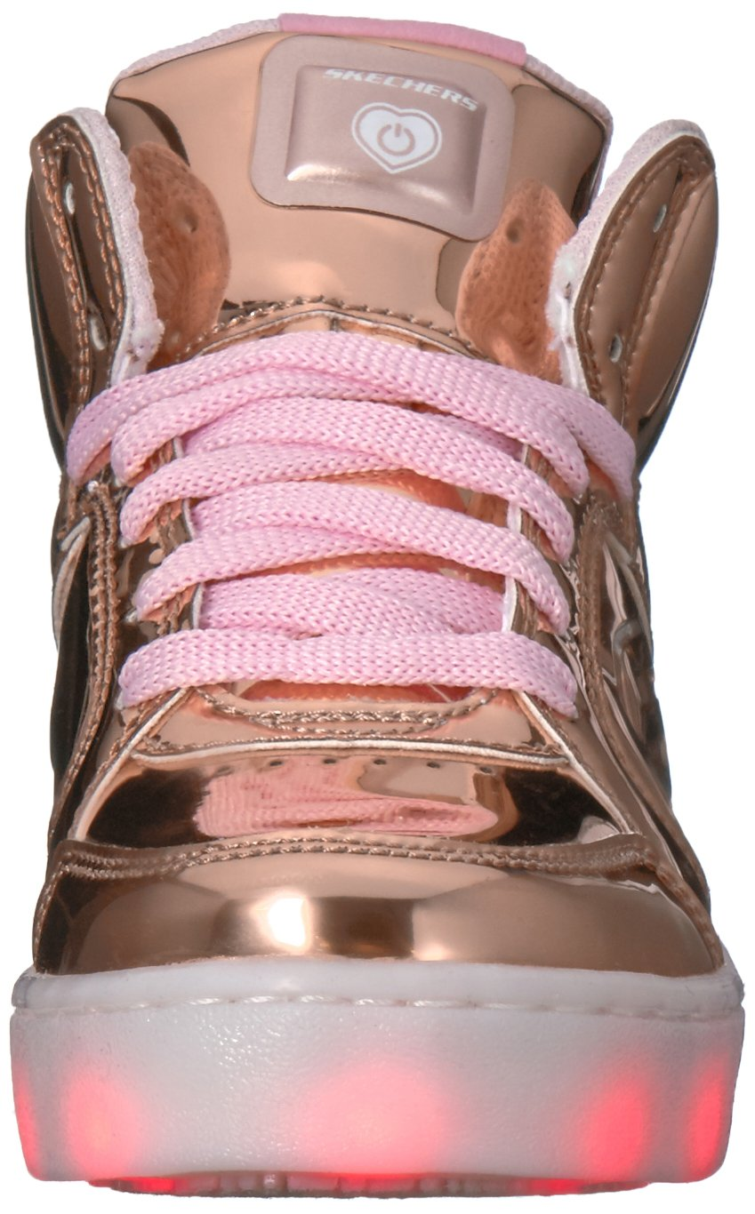 Skechers Kids Energy Lights-Dance-N-Dazzle Sneaker,Rose Gold,1 M US Little Kid by Skechers (Image #4)