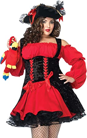 Leg Avenue womens red Vixen pirate wench costume