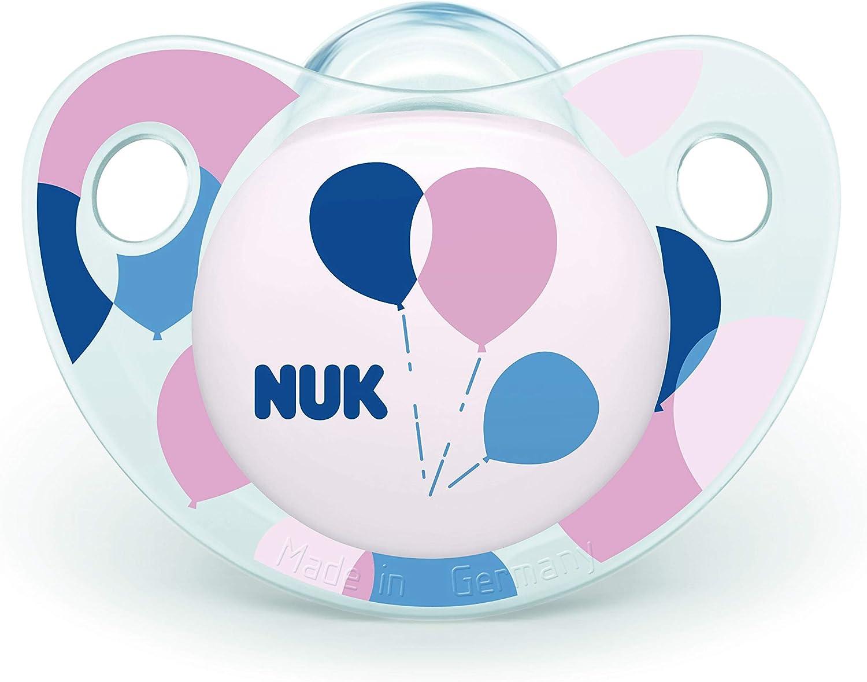 NUK Trendline  Sucettes Set de 2 pour Fille Multicolore 0-6 Mois