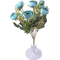 6 Dallı 28 cm Şakayık Gül Yapay Çiçek