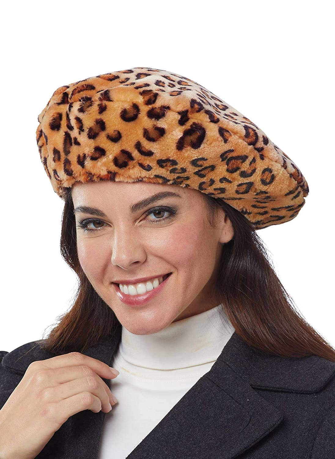 4beab025332a Carol Wright Gifts Ladies' Faux Fur Beret, Black at Amazon Women's Clothing  store: