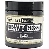 Prima Marketing Art Basics Heavy Gesso, 8.5-Ounce, Black