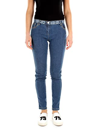 da4bd9a9 Kenzo Jeans Skinny Women - Cotton (6EF2PA250K02BLU): Amazon.co.uk: Clothing
