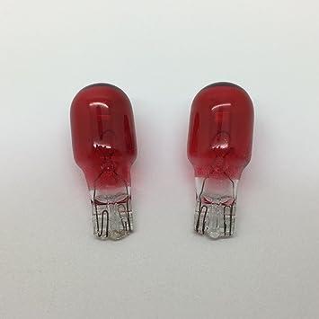 921 Red 12v 21w Capless Push Fit Car Bulb 921R W2.1x9.5D 35mm