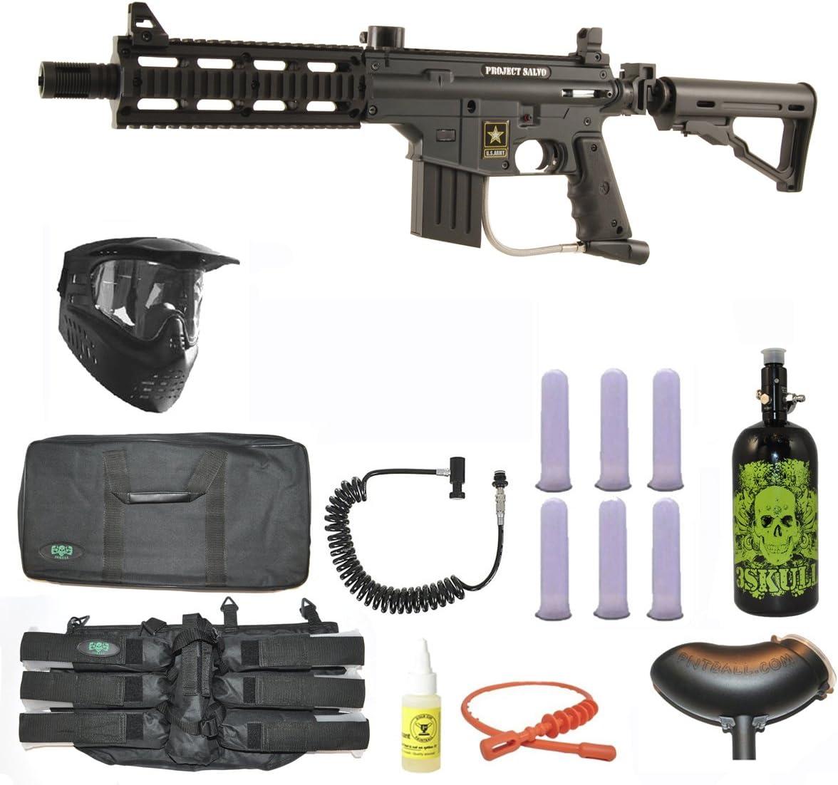 3Skull Paintball Tippmann 98 Custom Adjustable Marker Gun Tactical Stock Black