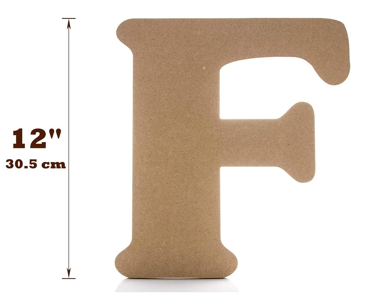 Letras de decoraci/ón de pared grande Letra de madera de 30,48 cm