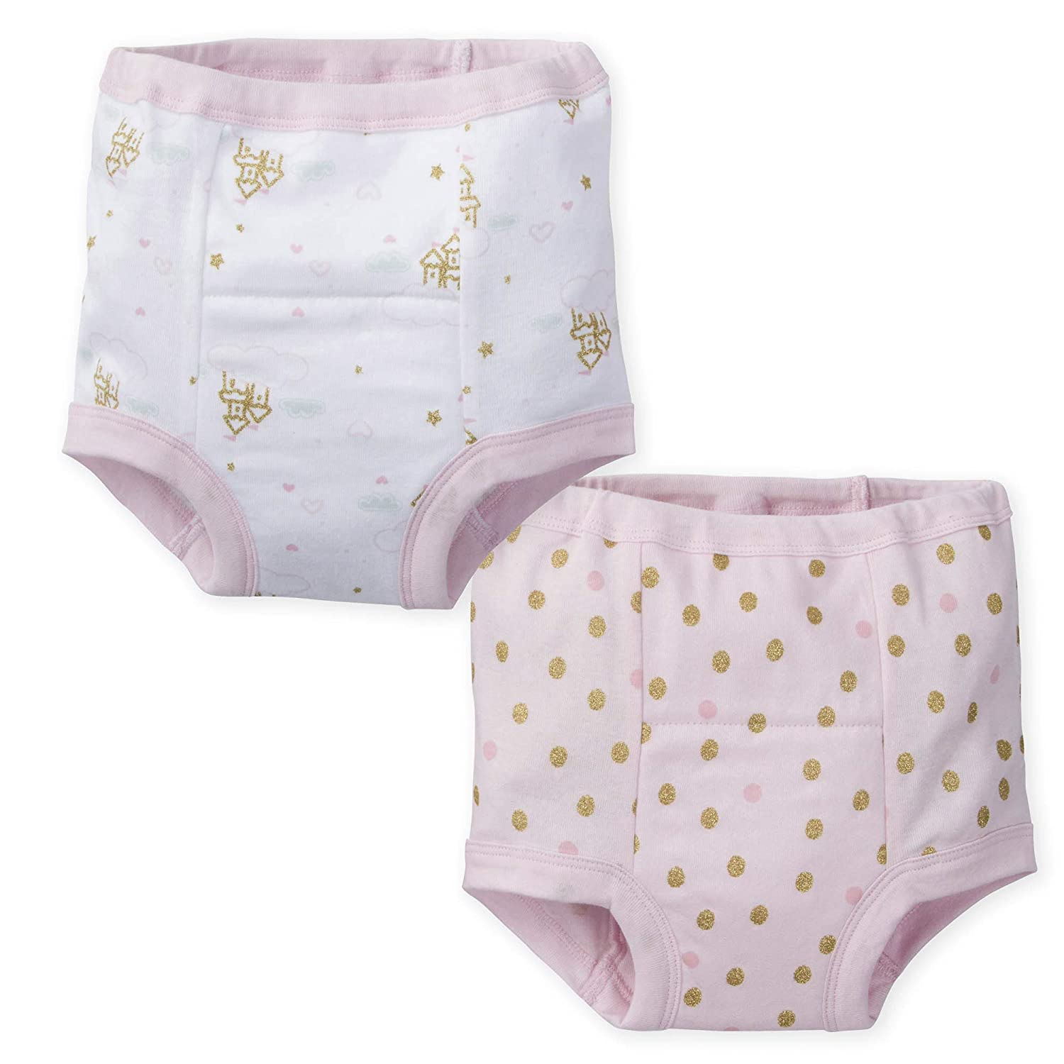3T Gerber Baby Girls 4 Pack Training Pants Hearts