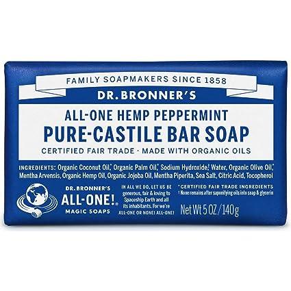 Dr Bronner's 140 G Organic Peppermint Soap Bar by Dr. Bronner