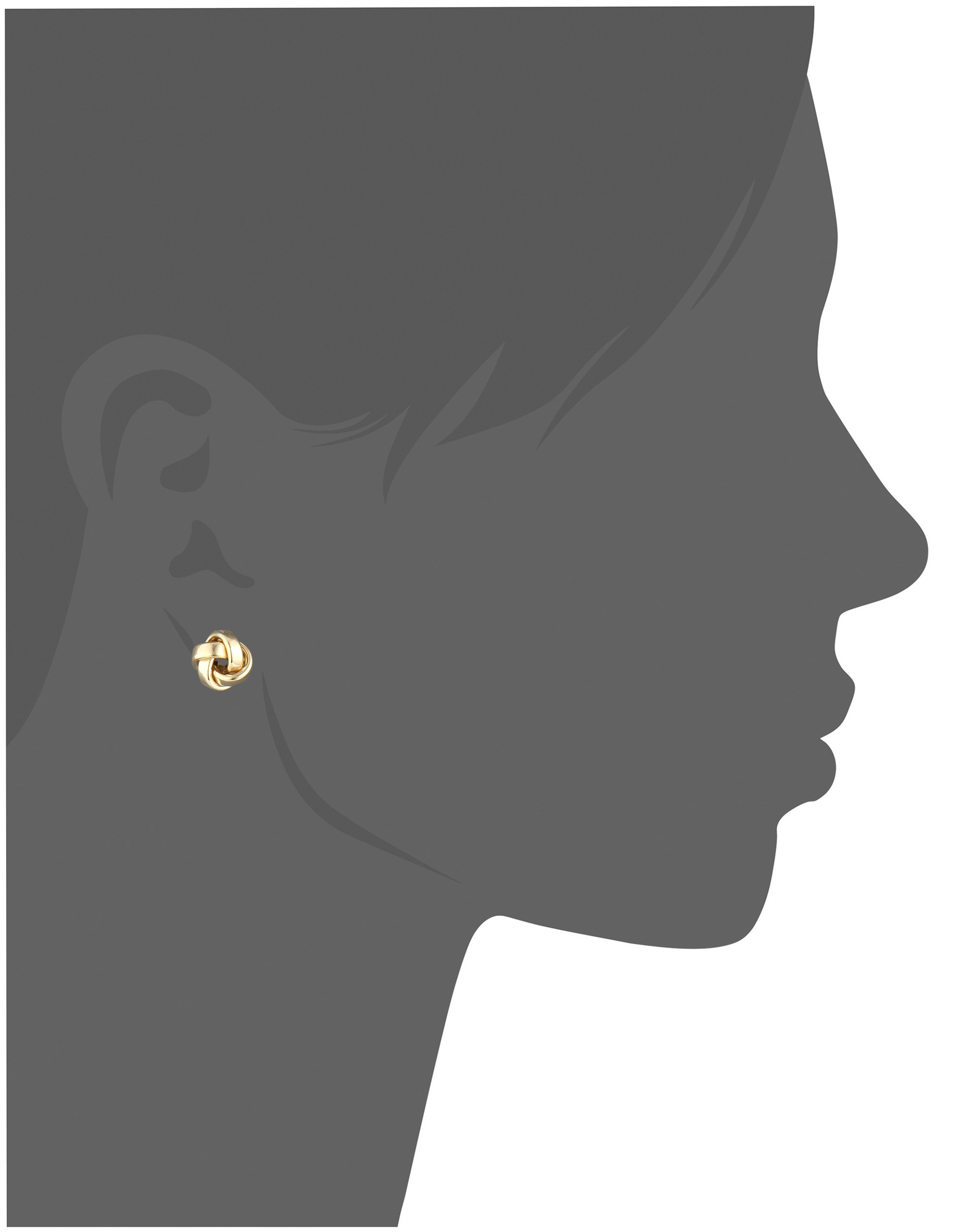 14k Yellow Gold Italian High Polished Love Knot Stud Earrings by Amazon Collection (Image #2)
