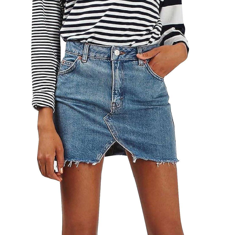 Colourful Womens Wild Shorts Jeans Hi-Waist Mini Denim Hipster Slim Hip Skirt