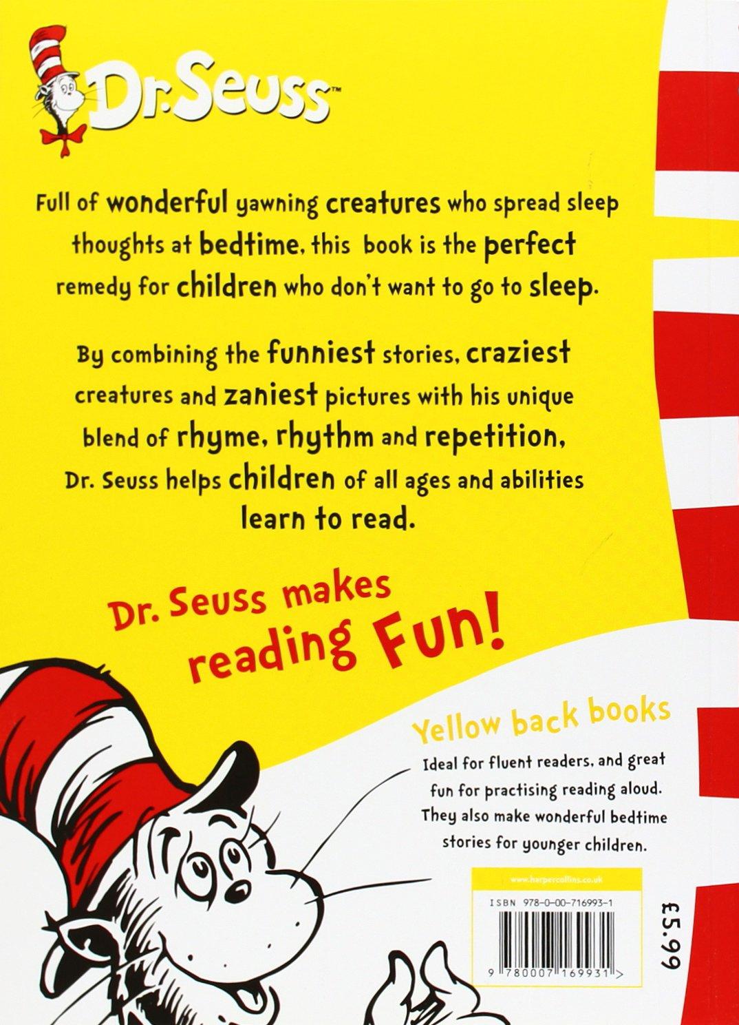 Dr Seusss Sleep Book Yellow Back Book Dr Seuss Yellow Back Book