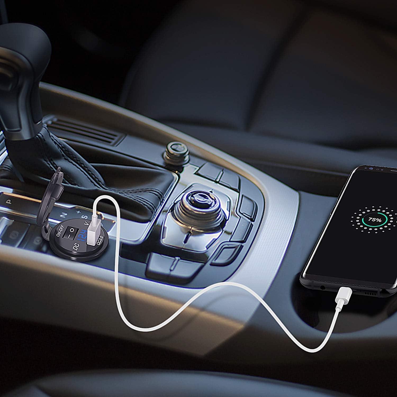 Meipire Chargeur USB femelle pour voiture bateau camping-car camper v/éhicule GPS Usw