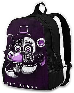 FNAF Game Backpack Travel Laptop Cartoon Casual Shoulders Bag For Men Women