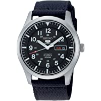 Seiko Men's Analogue Automatic Watch with Textile Strap – SNZG15K1