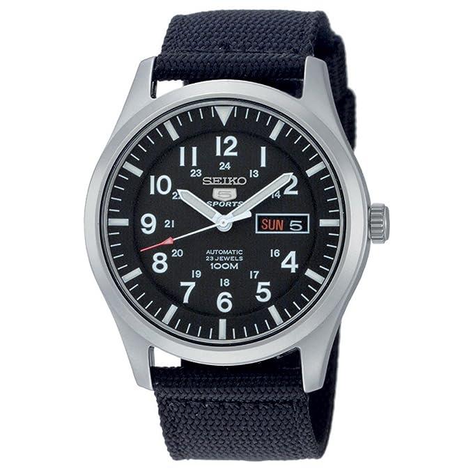 Reloj Seiko con correa de tela negra