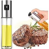 Oil Sprayer for Cooking, 1PCS Olive Oil Sprayer Mister Spray Bottles 3.4Oz Refillable Oil Vinegar Dispenser Glass Bottle…
