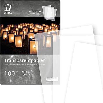 70 g//qm Block mit 20 Blatt A4 Transparentpapier