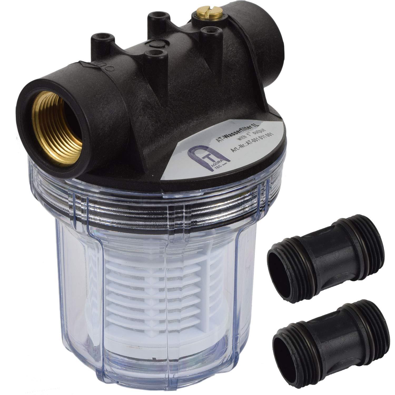 Agora-Tec - AT-1L filtre à eau, avec Max Pression de service:. 4 bar, Débit Max :. 3000 l / h, passoire suivante: 0,2 mm, de connexions: 1 pouce (30,3 mm) IG douilles en laiton Débit Max :. 3000 l / h