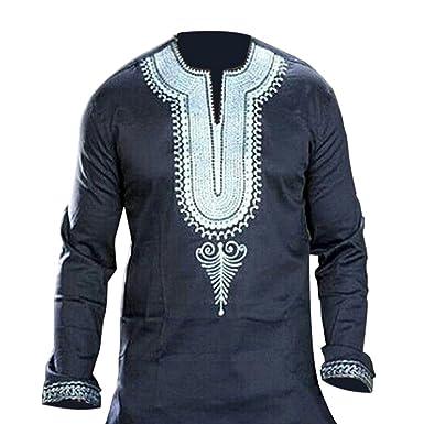 Deylaying Chemises Imprimé Afrique Costumes Nationale Robe Homme PkXuiZ