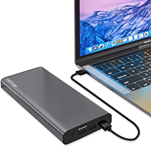 myCharge Portable Laptop Charger 60W / 26800 mAh PD USB-C Fast Charge Travel Power Bank Battery for HP, Dell, Lenovo, MacBooks | 2X USB-A Port for Apple iPhone, iPad, Android for Samsung Cell Phones