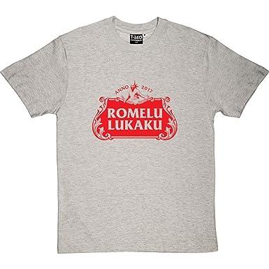 907300ae74b Romelu Lukaku Beer Melange Grey Ash Men s T-Shirt Small