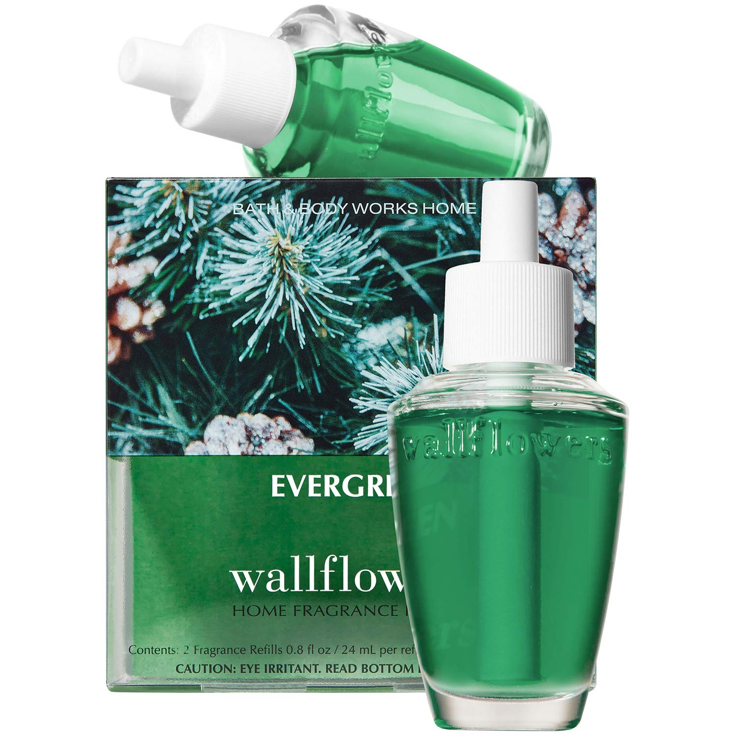 Bath and Body Works Evergreen Wallflowers 2-Pack Refills (2019 Edition)