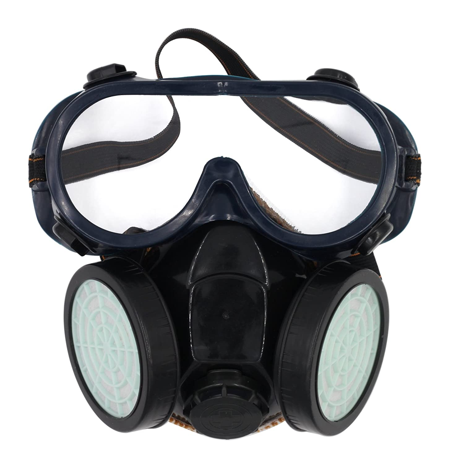 Olusar Anti-Dust Mask Respirator 2 Filter With Safety Goggles Shutong