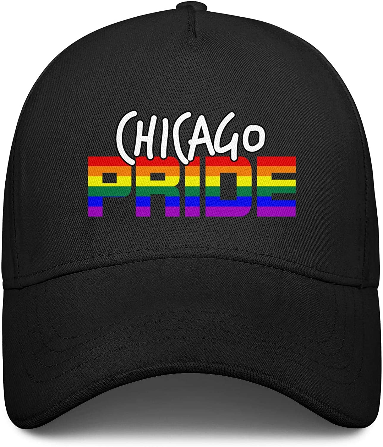 Gay Pride Parade Chicago LGBT Unisex Baseball Cap Fitted Sport Hats Adjustable Trucker Caps Dad-Hat