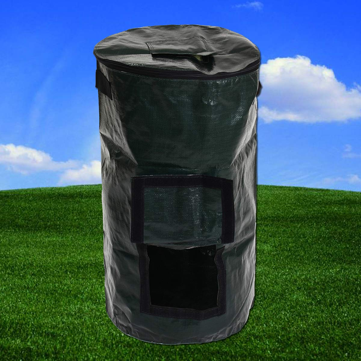 Hitommy 60L Organic Composter Waste Converter Waste Bins Eco Friendly Compost Storage Garden