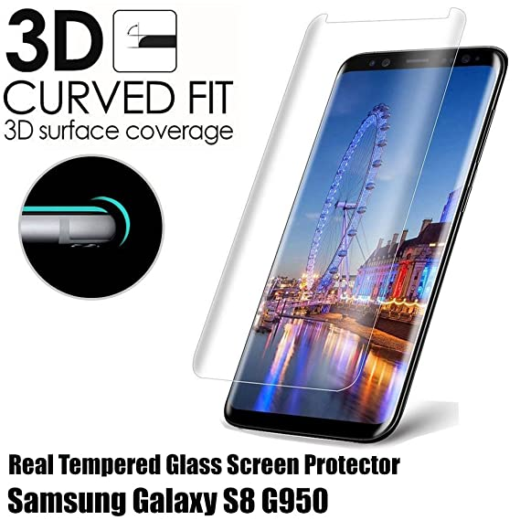 Amazon.com: Samsung Galaxy S8 G950 Transparent Clear Frame Full ...