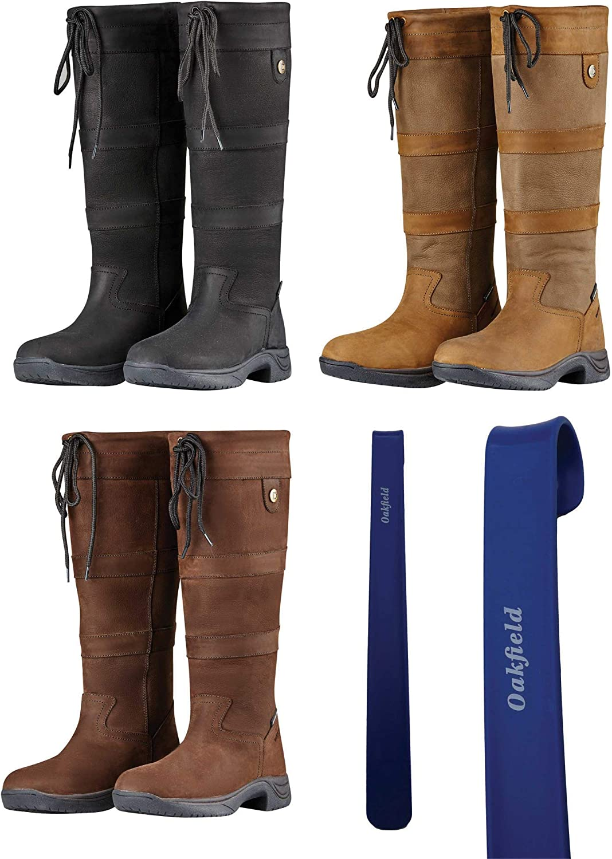 Chocolate /& Dark Brown Black Dublin River III Womens Country Waterproof Boots Shoe Horn Bundle