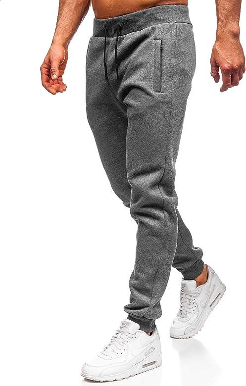 Jogging Bottoms Pocket Cuff Gym Mens Plain Fleece CAMO Training Joggers Workout