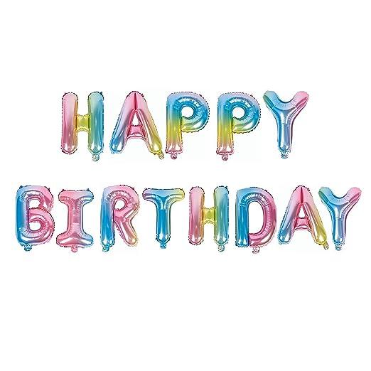 TOMYEER Cartel de cumpleaños con diseño de Globos de ...