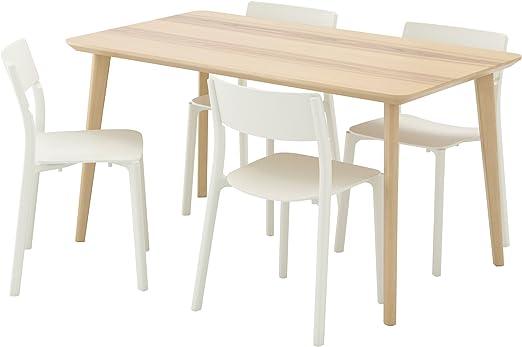 Esstisch Esche hell Tisch und Stuhl