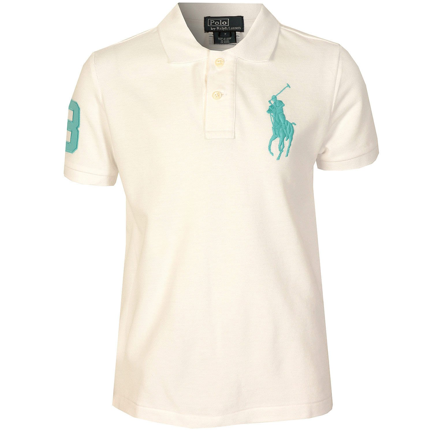 Polo Ralph Lauren Big Pony para niño (blanco): Amazon.es: Ropa y ...