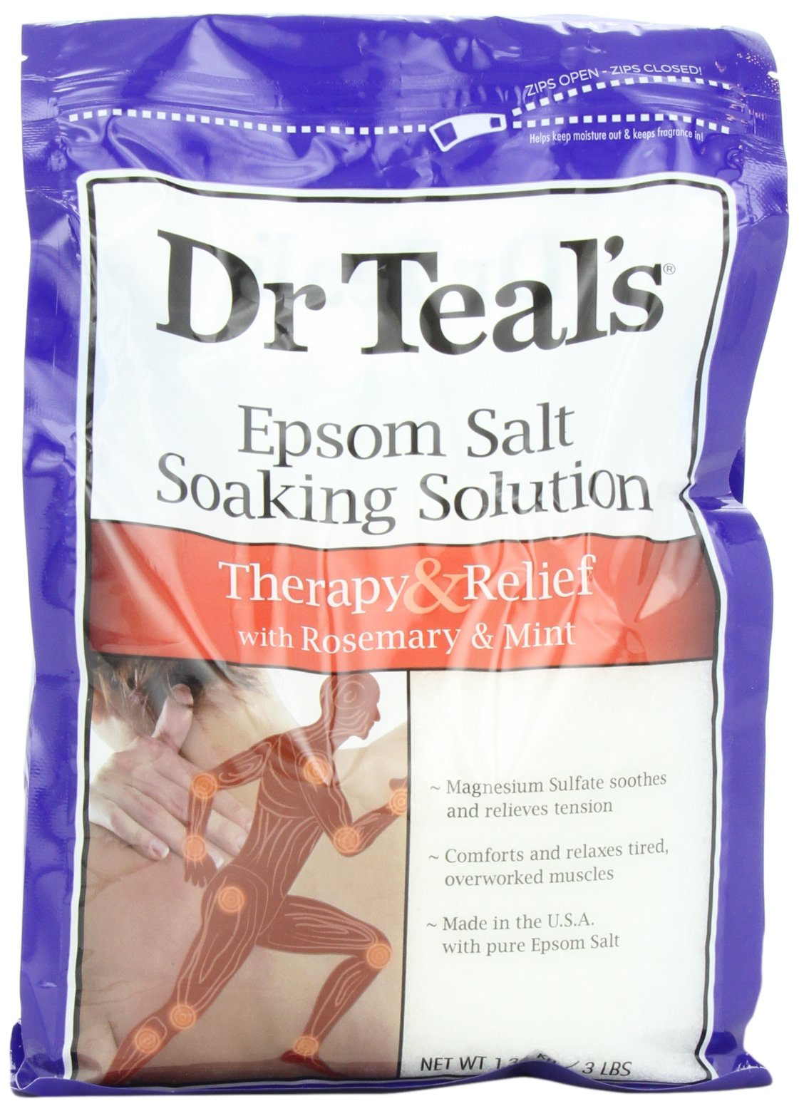 Dr. Teal's Epsom Salt Soaking Solution, Rosemary and Mint, 48 Ounce