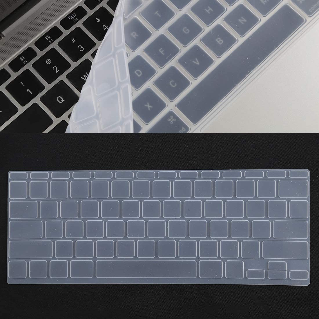 A1370 // A1465 Color : White Black Keyboard Protector Silica Gel Film for MacBook Air 11.6 inch