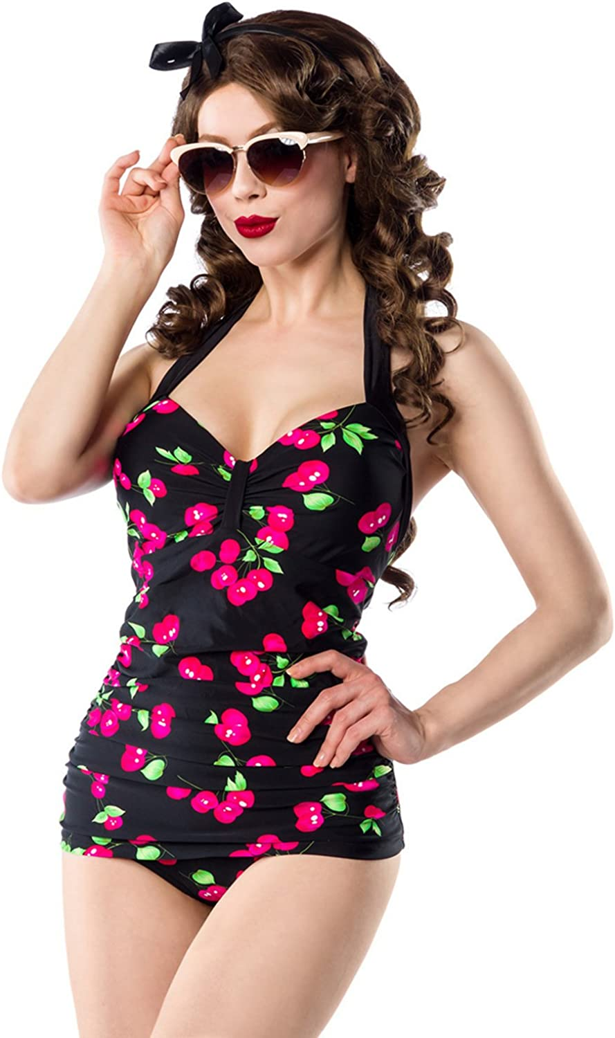 Vintage Swimsuit with Cherry Pattern of Belsira