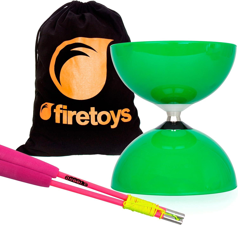Superglass Fibre Diablo Sticks /& Firetoys Bag Juggle Dream Big Top Diabolo