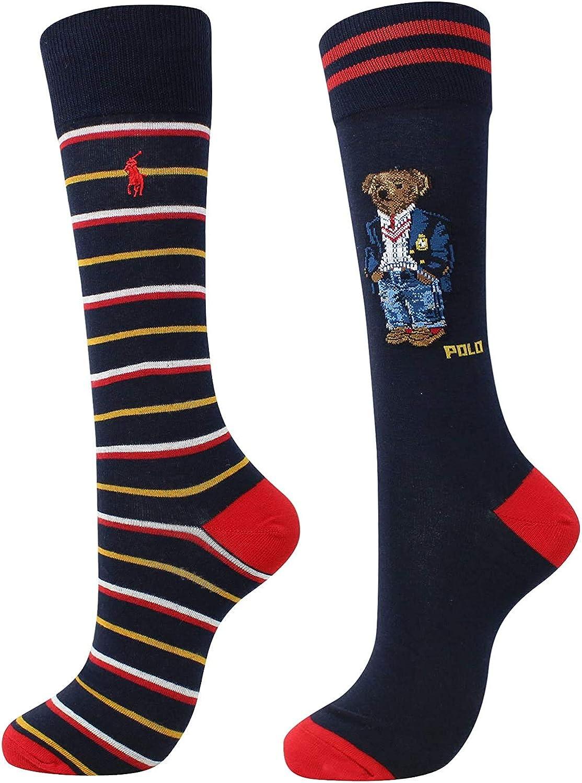 Polo Ralph Lauren 2-Pack Bear Quad Socks